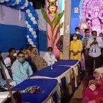 মেদিনীপুর শহরের বক্সী বাজার এলাকার জগদ্ধাত্রী পুজোর উদ্বোধন করলেন তৃণমূল সভাপতি অজিত মাইতি
