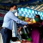 স্বাস্থ্যকর্মীদের কোভিড সম্মান জ্ঞাপন অনুষ্ঠিত হল ভগবানপুর ১ নং ব্লকে