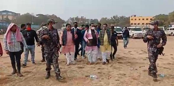 সামনে অমিত শাহের জনসভা, আজ মেদিনীপুরের কলেজ মাঠ প্রদর্শন করল এস পি জি-র একটি দল